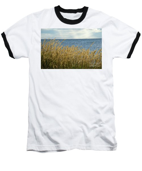 Glowing Grass By The Coast Baseball T-Shirt