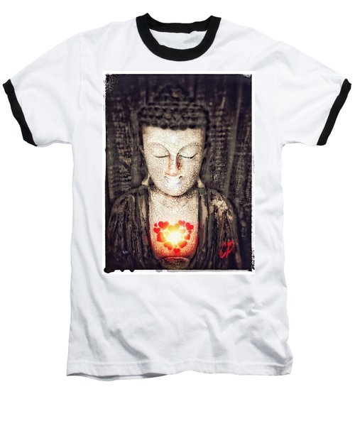 Glowing Heart Baseball T-Shirt