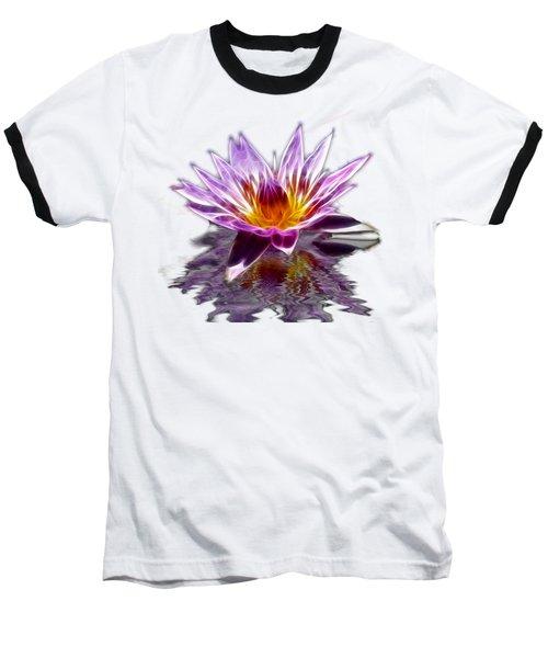 Glowing Lilly Flower Baseball T-Shirt