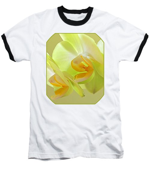 Glowing Orchid - Lemon And Lime Baseball T-Shirt by Gill Billington