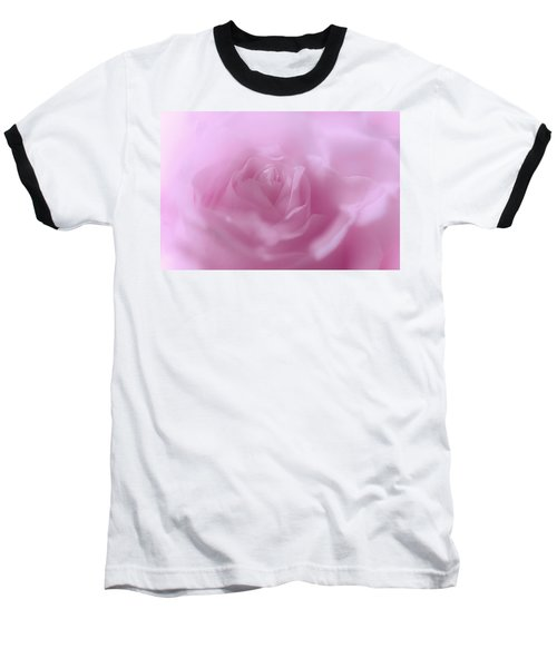 Baseball T-Shirt featuring the photograph Glowing Pink Rose by Jenny Rainbow