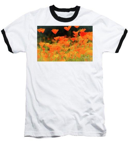 Glowing Poppies Baseball T-Shirt