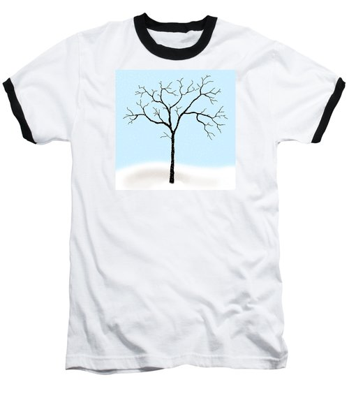 Gnarled In Winter Baseball T-Shirt