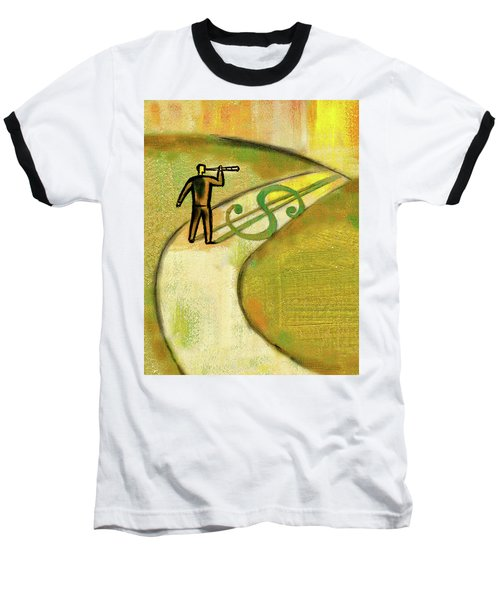 Baseball T-Shirt featuring the painting Goal by Leon Zernitsky