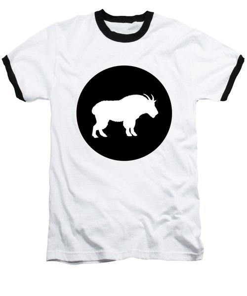Goat Baseball T-Shirt by Mordax Furittus