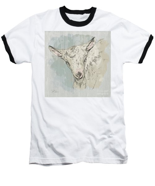 Goat Portrait-farm Animals Baseball T-Shirt