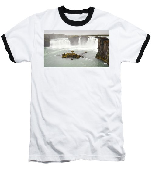 Baseball T-Shirt featuring the photograph Godafoss by Joe Bonita