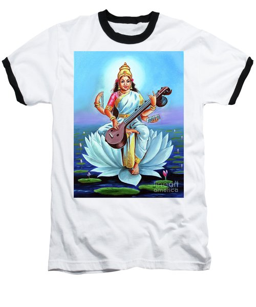 Goddess Of Wisdom And Knowledge Baseball T-Shirt