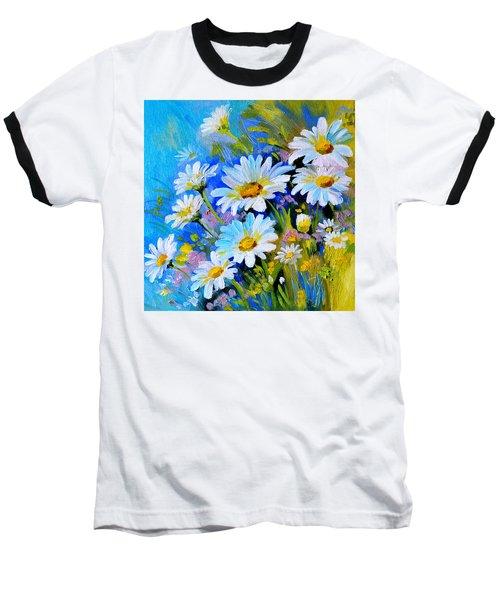 Baseball T-Shirt featuring the digital art God's Touch by Karen Showell