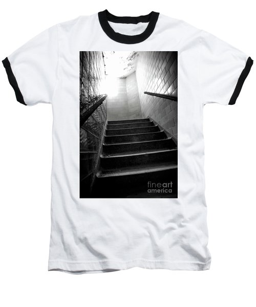 Going Up? Baseball T-Shirt by Randall Cogle