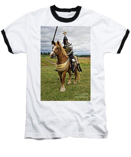 Gold And Silver Knight Baseball T-Shirt