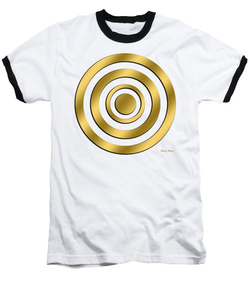 Gold Circles Baseball T-Shirt
