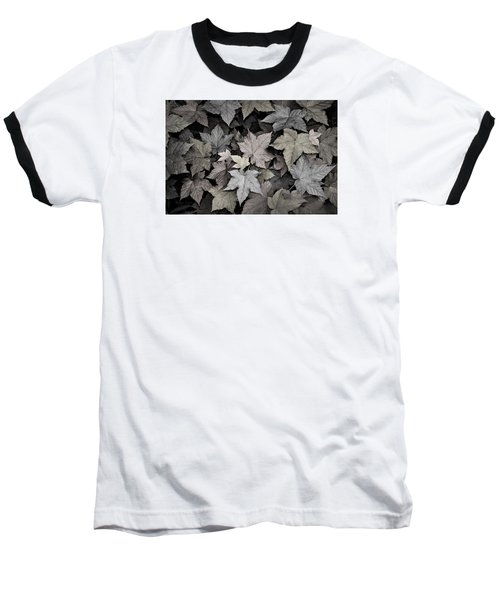 Gold Copper And Silver Leaves 1 Baseball T-Shirt