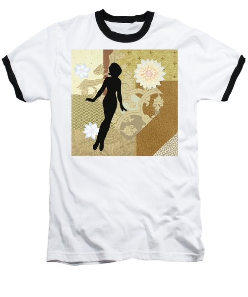 Gold Paper Doll Baseball T-Shirt