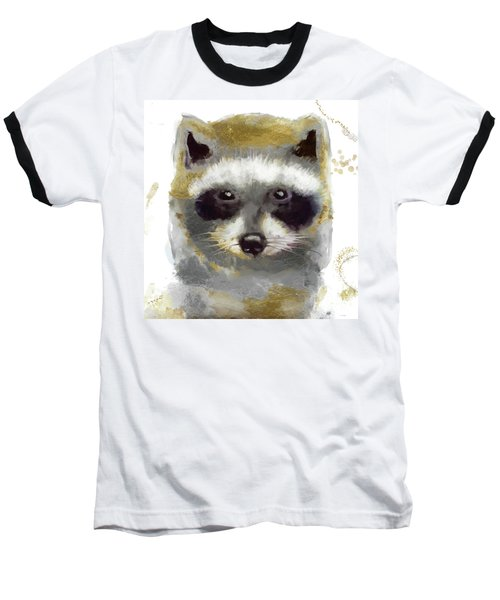 Golden Forest Raccoon  Baseball T-Shirt
