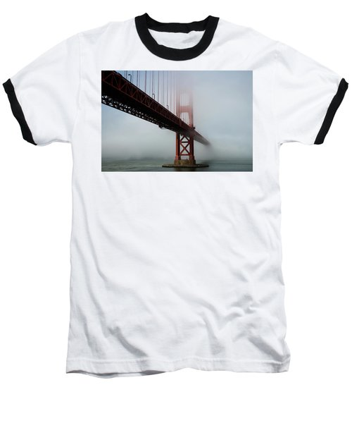 Baseball T-Shirt featuring the photograph Golden Gate Bridge Fog 2 by Stephen Holst