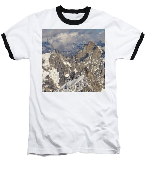 Golden Light At Aiguille Du Midi Baseball T-Shirt