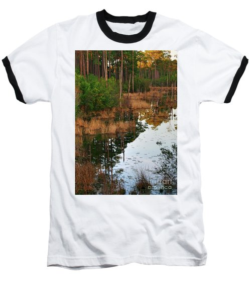 Golden Pond Baseball T-Shirt by Lori Mellen-Pagliaro