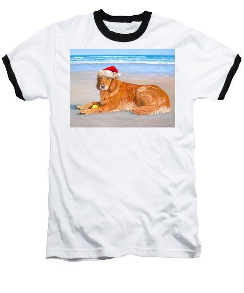 Golden Retreiver Holiday Card Baseball T-Shirt