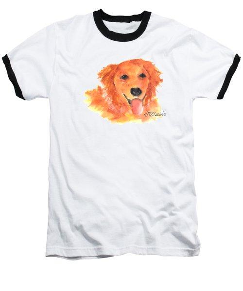 Golden Retriever Baseball T-Shirt by Kathleen McElwaine