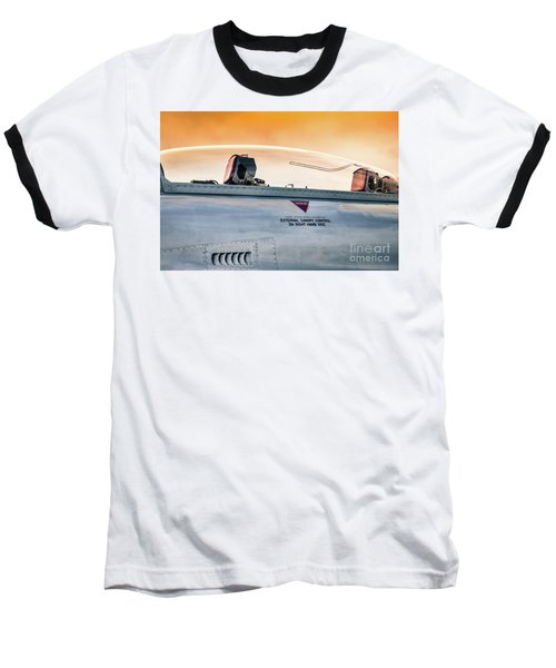 Golden Sky Baseball T-Shirt by Lawrence Burry