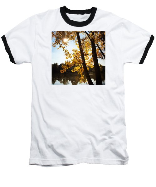 Golden Trees In Autumn Sindelfingen Germany Baseball T-Shirt