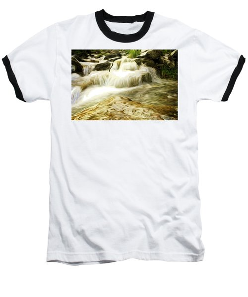 Golden Waterfall Baseball T-Shirt