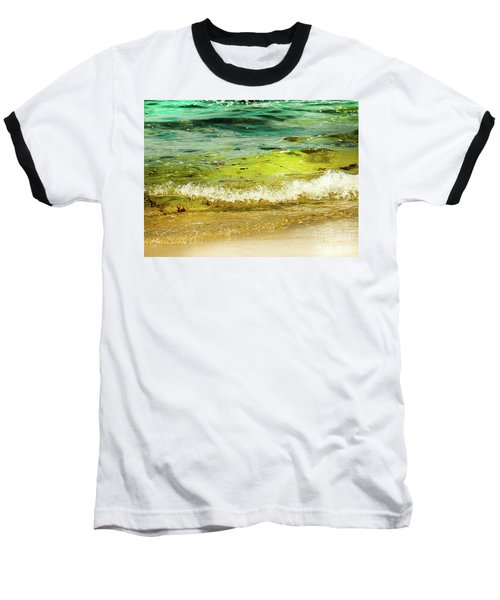 Golden Waves At Pacific Grove California Near Lover's Point Baseball T-Shirt