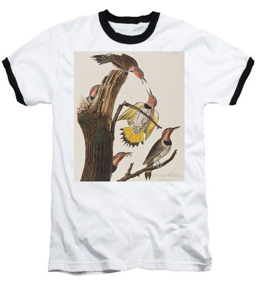 Golden-winged Woodpecker Baseball T-Shirt by John James Audubon