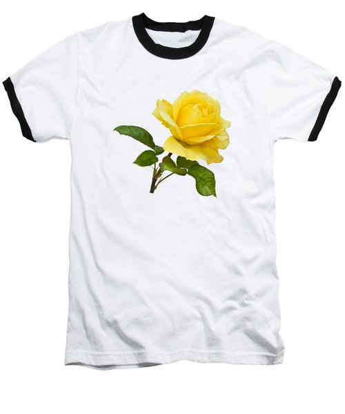 Baseball T-Shirt featuring the photograph Golden Yellow Rose by Jane McIlroy