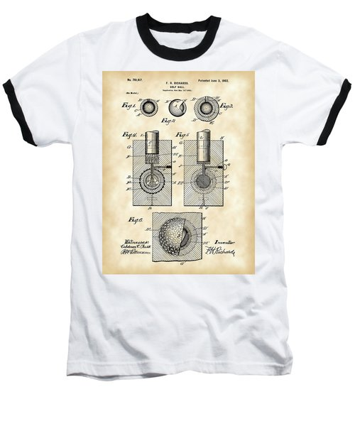 Golf Ball Patent 1902 - Vintage Baseball T-Shirt