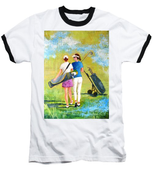 Golf Buddies #1 Baseball T-Shirt by Betty M M Wong