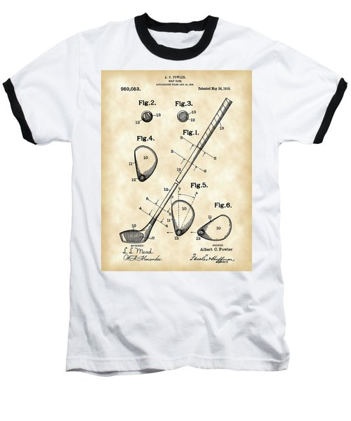 Golf Club Patent 1909 - Vintage Baseball T-Shirt