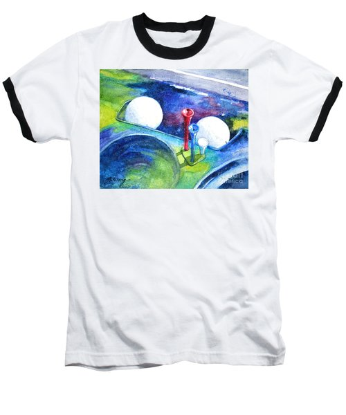 Golf Series - Back Safely Baseball T-Shirt by Betty M M Wong