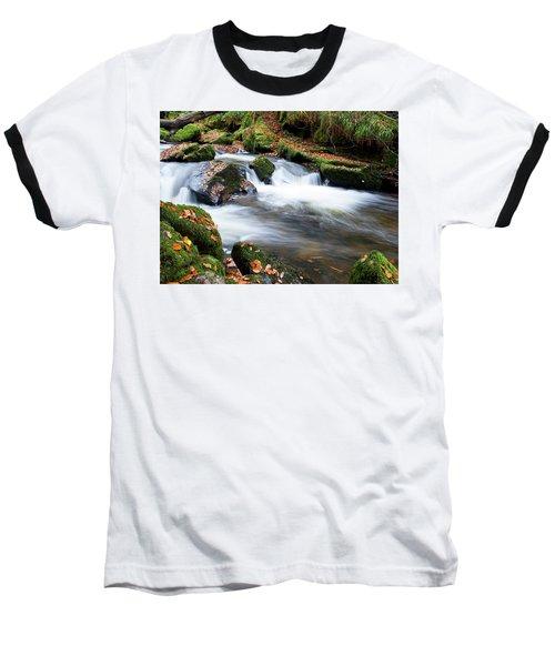 Golitha Falls IIi Baseball T-Shirt by Helen Northcott