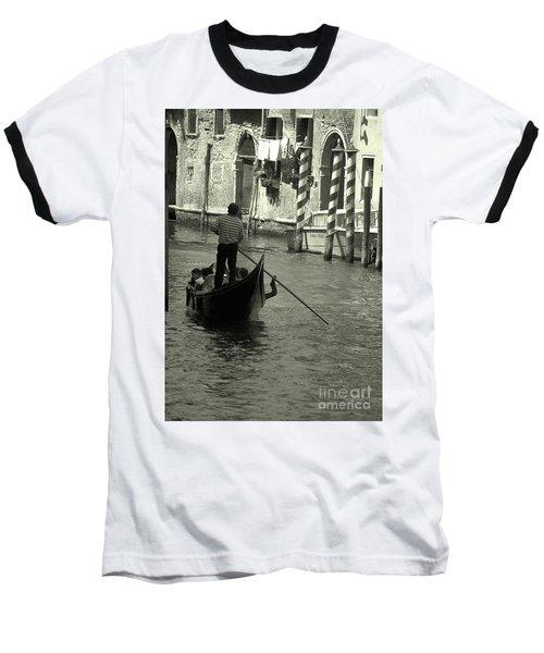 Gondolier In Venice   Baseball T-Shirt