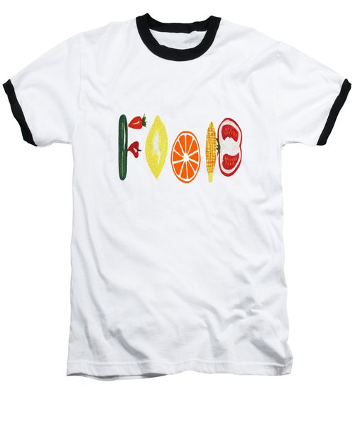 Good Eats - Food Typography Baseball T-Shirt
