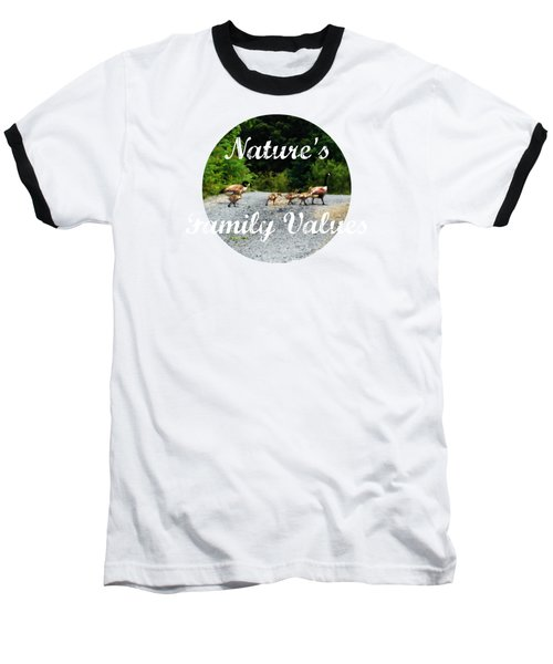 Goose Family Baseball T-Shirt by Anita Faye