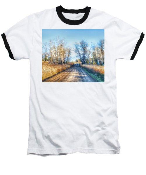 Goose Lake Road Baseball T-Shirt by Theresa Tahara