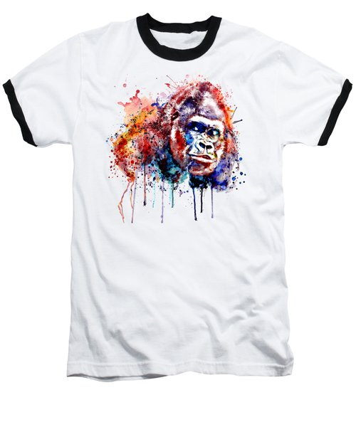 Baseball T-Shirt featuring the mixed media Gorilla by Marian Voicu