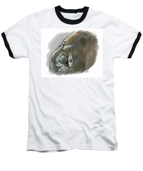Gorilla Mother Baseball T-Shirt