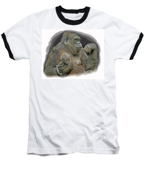 Gorilla Motherhood Baseball T-Shirt