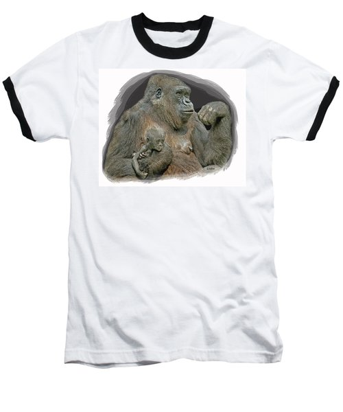 Gorilla Motherhood Baseball T-Shirt