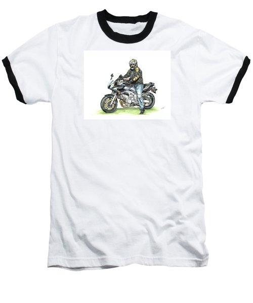 Got To Ride Baseball T-Shirt by Shari Nees