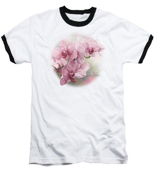 Graceful Orchids Baseball T-Shirt by Lucie Bilodeau