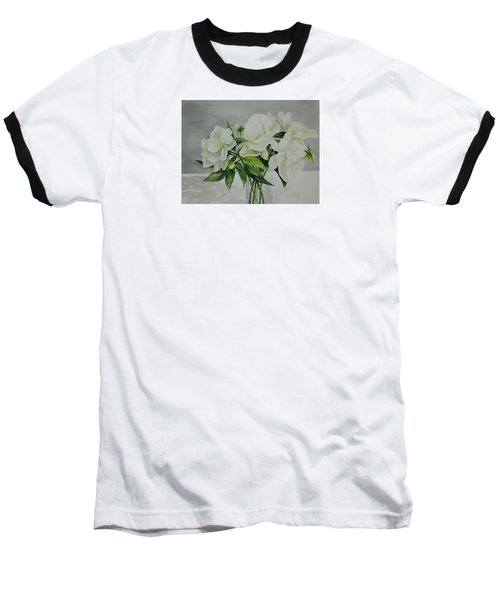 Graceful Peonies Baseball T-Shirt