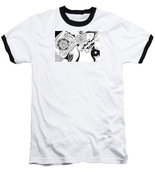 Gracefully Baseball T-Shirt by Helena Tiainen