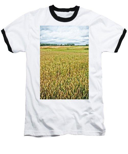 Baseball T-Shirt featuring the photograph Grain Field by Hans Engbers