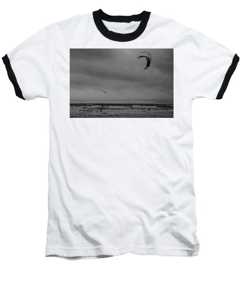 Grainy Wind Surf Baseball T-Shirt