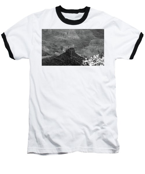 Baseball T-Shirt featuring the photograph Grand Canyon 4 In Black And White by Debby Pueschel